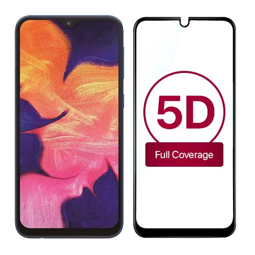 محافظ صفحه نمایش تمام چسب 5D برای سامسونگ Galaxy A10
