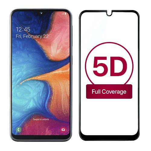 محافظ صفحه نمایش تمام چسب 5D برای سامسونگ Galaxy A20