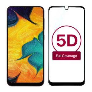 محافظ صفحه نمایش تمام چسب 5D برای سامسونگ Galaxy A30