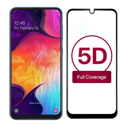 محافظ صفحه نمایش تمام چسب 5D برای سامسونگ Galaxy A50