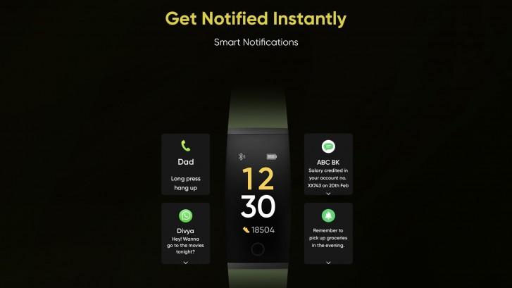 اعلان های مچ بند سلامت Realme Band