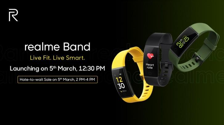 رنگبندی مچ بند سلامت Realme Band